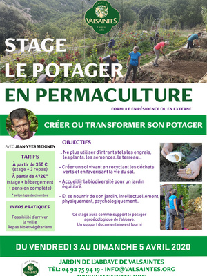 Stage : Le potager en permaculture du 3 au 5 avril 2020