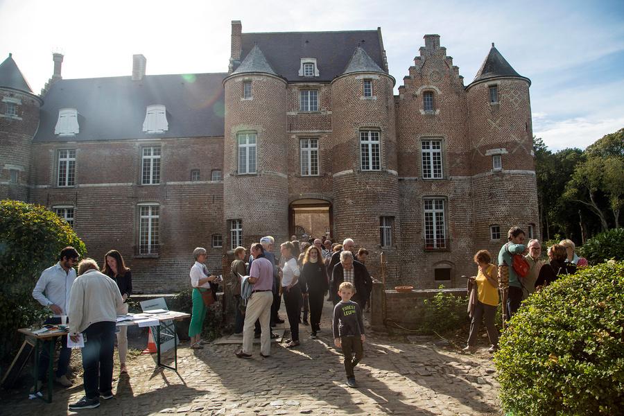 Jardin du château d'Esquelbecq