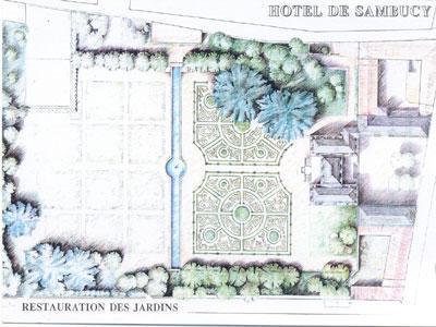 JARDINS DE L'HOTEL DE SAMBUCY