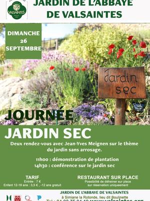 Journée Jardin sec à Valsaintes