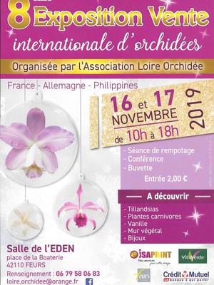 8ème exposition internationale d'orchidées à Feurs