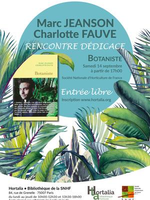 """Dédicace du livre «Botaniste"""""""