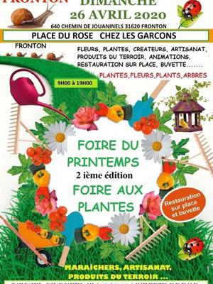 Foires aux plantes et artisanat 2020 à Fronton
