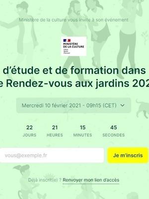 Journée d'Étude Rendez-vous aux jardins 2021