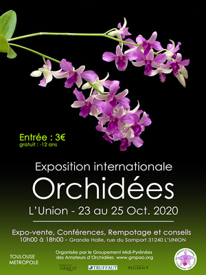 Exposition internationale d'orchidées 2020 à L'Union