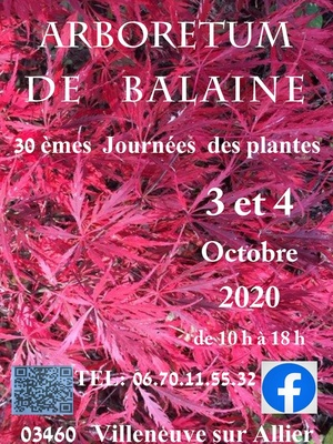 30 emes Journées des Plantes Arboretum de Balaine