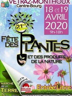 ANNULATION 21ème Fête des Plantes de Vétraz-Monthoux