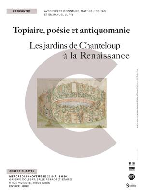 Topiaire, poésie et antiquomanie Les jardins de Chanteloup à la Renaissance